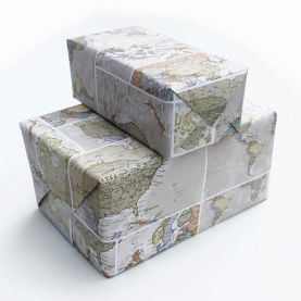 Medium Classic World Map Gift Wrapping Paper (Other)