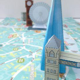 London 3D Model Map Craft kit (Craft Pack)