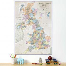 Medium UK Classic Wall Map (Paper)
