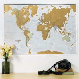Scratch the World® - French Language (Silk Art Paper)
