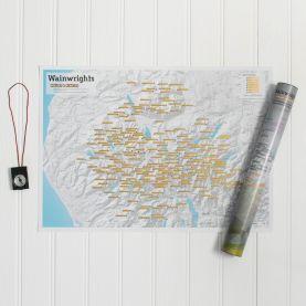Scratch Off Wainwright Hill-bagging Print (Silk Art Paper)