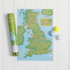 Scratch Off UK Golf Courses Print (Silk Art Paper)