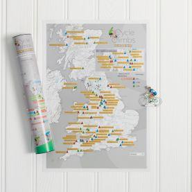 Scratch Off UK Cycle Climbs Print (Silk Art Paper)