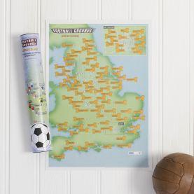 Scratch Off 92 Football Grounds Print (Silk Art Paper)
